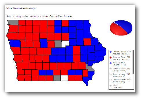 Candidate Results Map (Iowa)